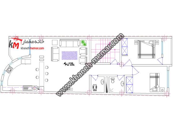 پلان اتوکد تجاری مسکونی-349-5