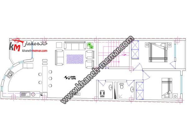 پلان اتوکد تجاری مسکونی-349-6