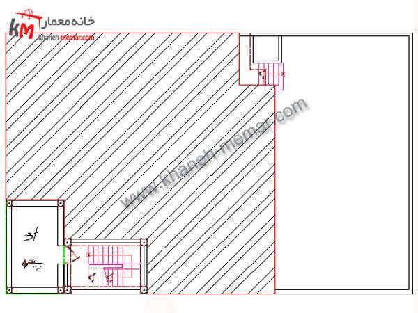 نقشه ویلایی دو طبقه
