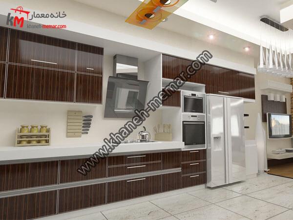 فضای طراحی کابینت ها و اشپزخانه