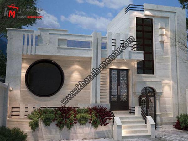 نمای خانه مسکونی یک طبقه