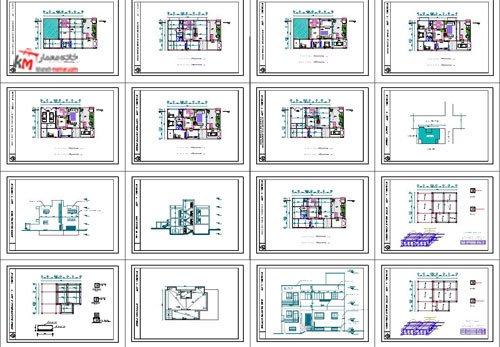 شیت بندی نقشه ساختمان