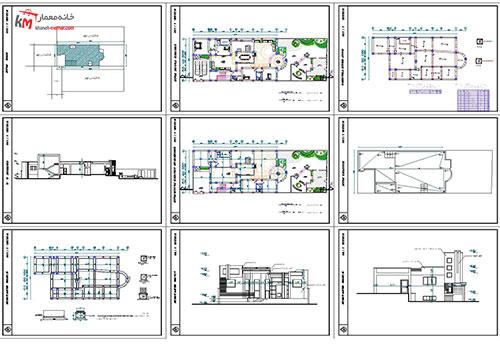 پیشنمایش نقشه خانه مسکونی