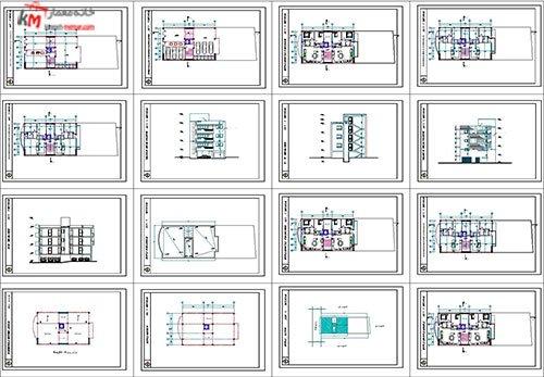 شیت بندی مجتمع مسکونی 4 طبقه