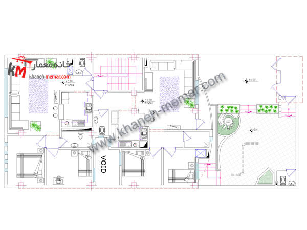 نقشه مدرن آپارتمان طراحی نقشه ساختمان مسکونی