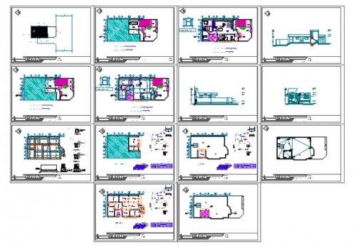 شیت بندی پلان مسکونی دو طبقه