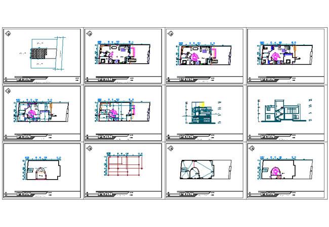 پلان ویلایی دوبلکس 200 متری |نقشه ساختمان مسکونی 200 متری |نقشه خانه ویلایی 200 متری