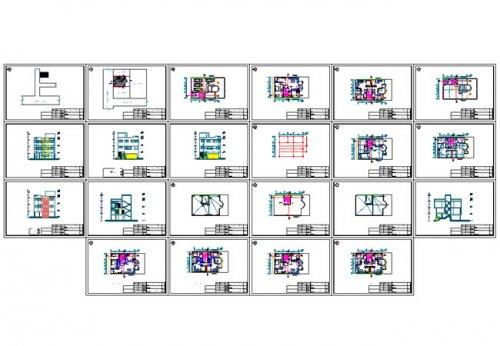 پلان شیت بندی دانلود نقشه ساختمان