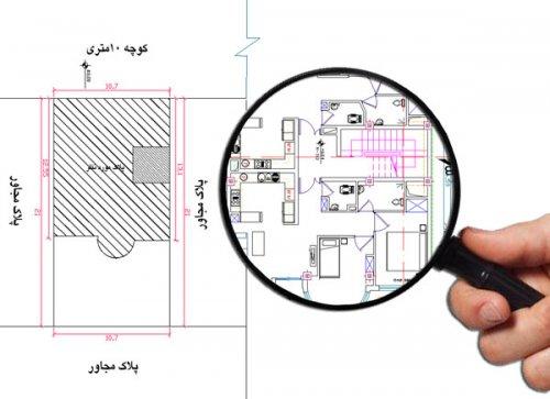 سایت پلان نقشه ساختمان