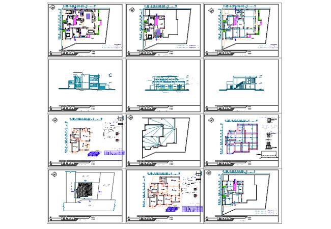 پیش نمایش نقشه ساختمان