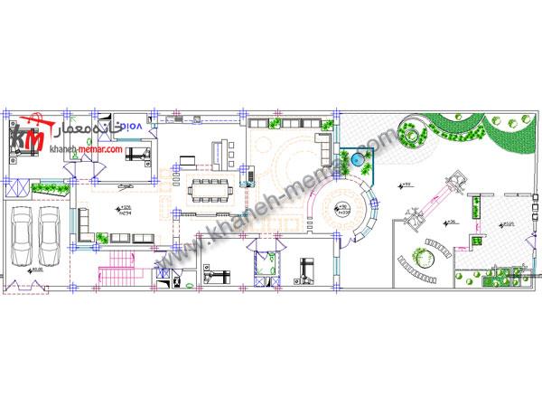 طراحی نقشه ساختمان مسکونی