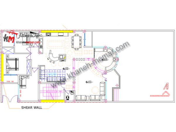 دیتیل طراحی نقشه ساختمان مسکونی