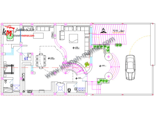 طراحی نقشه ساختمان مسکونی |دانلود نقشه معماری