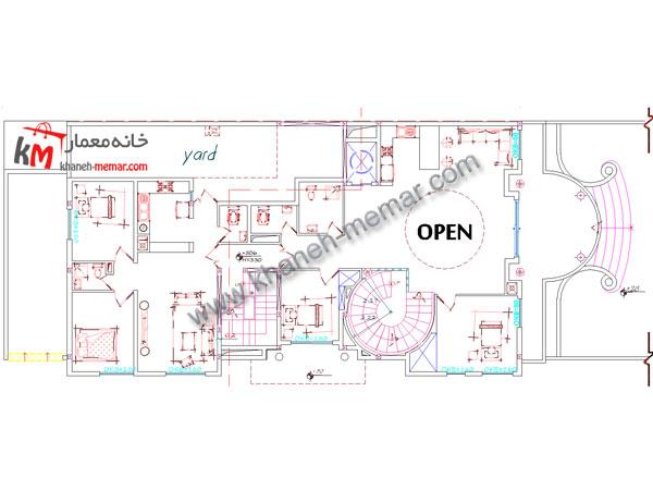 خانه معمار   طراحی نقشه ساختمان مسکونی