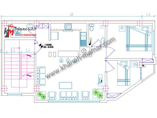 نقشه خانه| طراحی نقشه ساختمان مسکونی