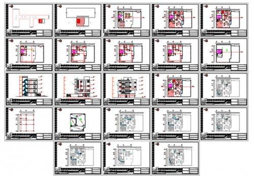 پیشنمایش نقشه معماری مسکونی