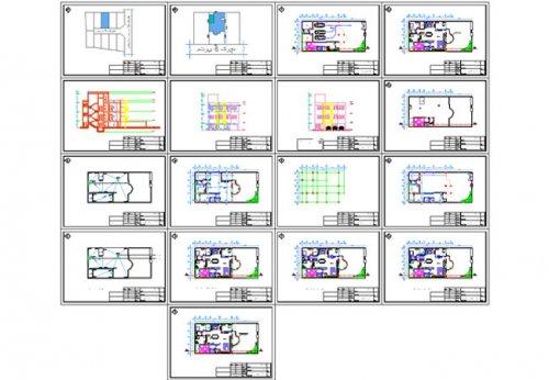پیش نمایش نقشه ساختمان مسکونی