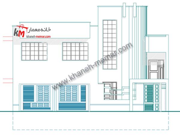 نقشه خانه دوبلکس نما طراحی آپارتمان مسکونی 1-327