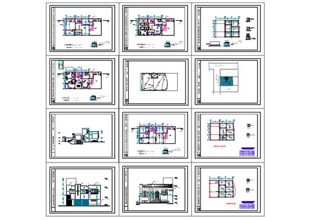 پیشنمایش نقشه منزل مسکونی