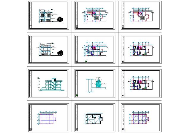 پیشنمایش پلان مدرن آپارتمانی