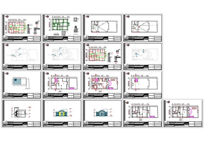 شیت بندی نقشه ساختمان دو طبقه