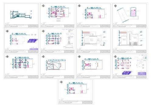 پلان ویلایی دوبلکس 200 متری |نقشه ساختمان مسکونی 200 متری |نقشه خانه سه خوابه 200 متری شمالی