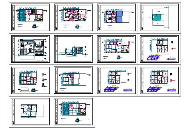 پیشنمایش پلان مسکونی مدرن