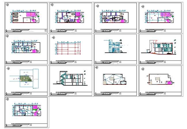 پیشنمایش پلان ساختمان سه طبقه
