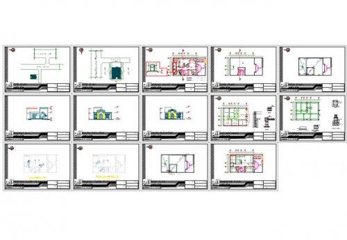 شیت بندی نقشه کامل ساختمان