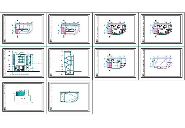 پیشنمایش پلان تجاری مسکونی