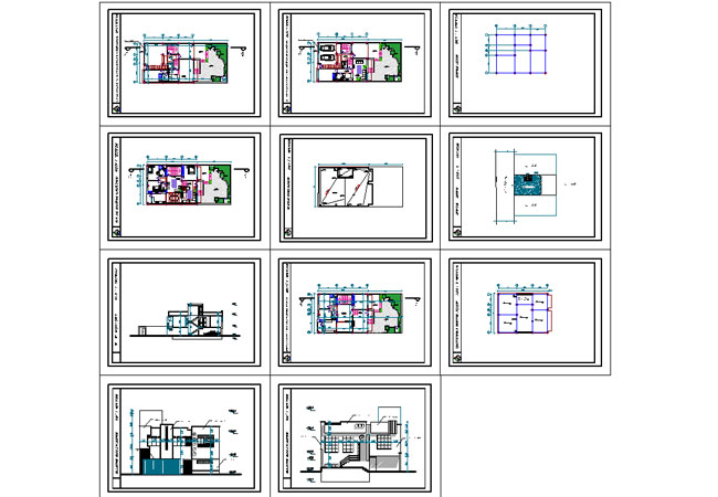 پپیش نمایش نقشه اتو کدی ویلایی