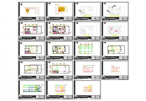 شیت بندی پلان اتوکد معماری