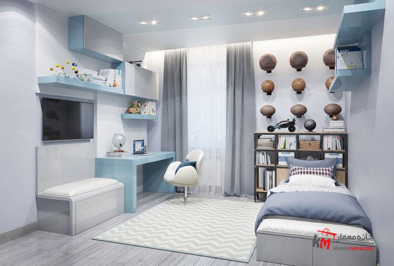 اتاق خواب کودک - نمونه 12|خانه معمار