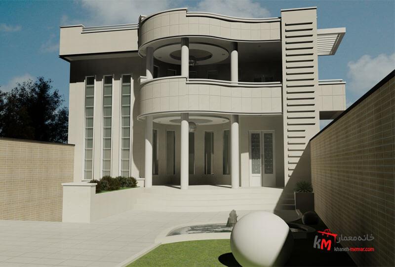 طراحی نما نمونه کار350.02 |خانه معمار