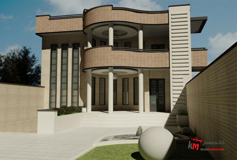 طراحی نما نمونه کار350.03 |خانه معمار