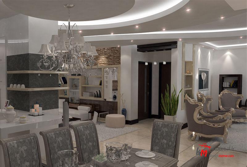 طراحی دکوراسیون داخلی خیابان آزادگان- 401-08 |خانه معمار