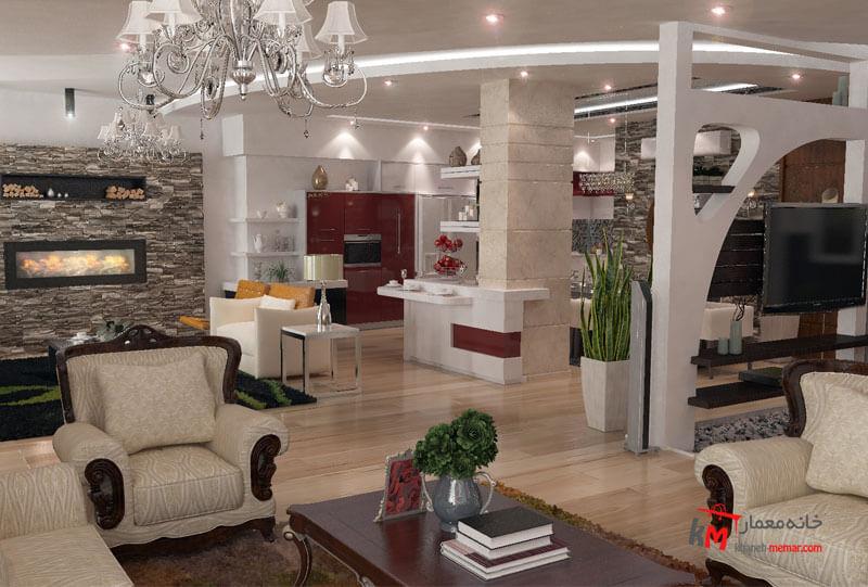 طراحی دکوراسیون بلوار نخلستان 549.9 |خانه معمار