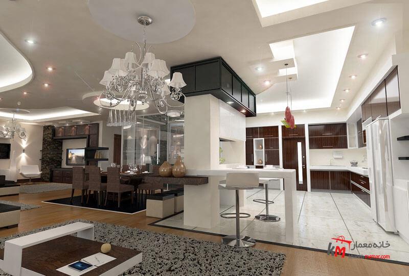 طراحی دکوراسیون داخلی شهرک انقلاب- 424-01 |خانه معمار