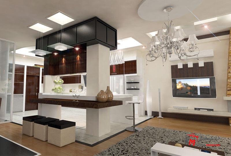 طراحی دکوراسیون داخلی شهرک انقلاب- 424-06  خانه معمار