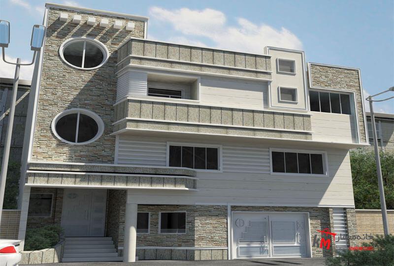 طراحی نما نمونه کار 409.01|خانه معمار