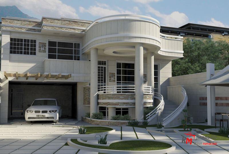 طراحی نما نمونه کار 435.01|خانه معمار