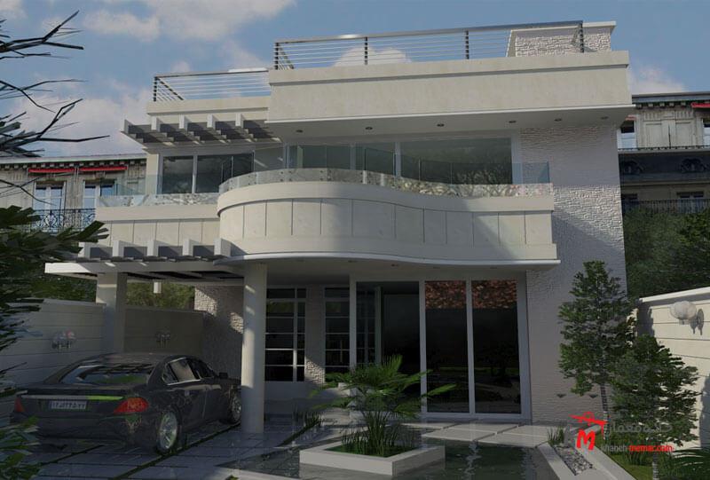 طراحی نما نمونه کار 444.01|خانه معمار