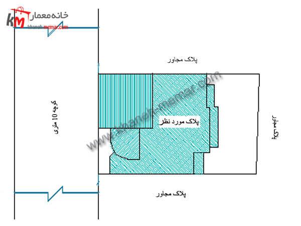 نقشه خانه دوبلکس نما طراحی آپارتمان مسکونی 01-1-327