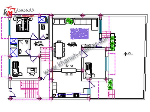 طراحی نقشه خانه مسکونی 327-2-3