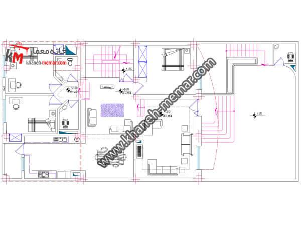 نقشه منزل ویلایی-03-351