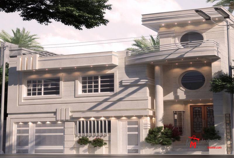 نمای ساختمان نمونه کار amodi 567.01 |خانه معمار
