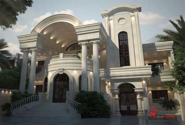 طراحی نمای کلاسیک ساختمان