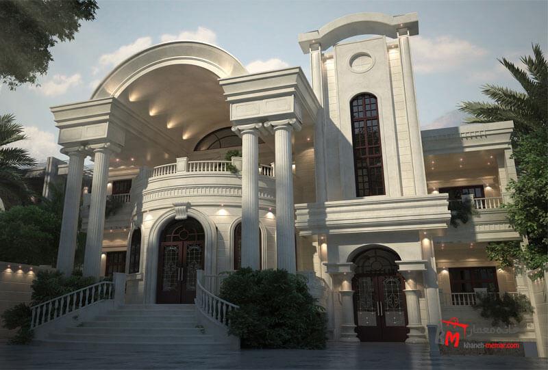 نمای ساختمان کلاسیک Classic view