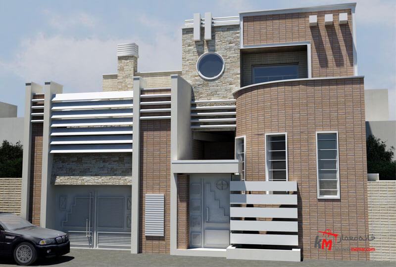 طراحی نمای ساختمان مدرن نمونه کار 593.01|خانه معمار