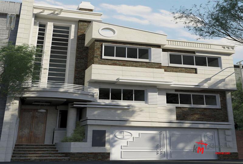 طراحی نما نمونه کار 448.01|خانه معمار